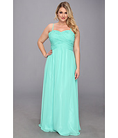 Faviana - Plus Size Ruched Bodice Chiffon Gown 9307