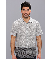 Perry Ellis - Short Sleeve Block Double Print Shirt