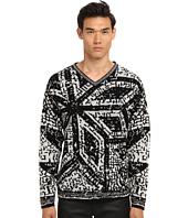 Vivienne Westwood - Mosaic Jacquard Knit V-Neck Sweater