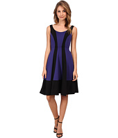 ABS Allen Schwartz - Color Blocked Mid Fit and Flare Dress