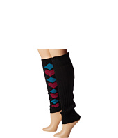 Steve Madden - 2 Pack Argyle/Solid Leg Warmer (Girls)