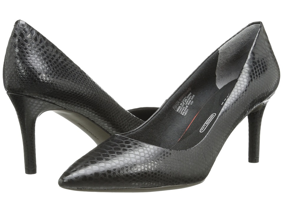 Rockport - Total Motion 75mm Pointy Toe Pump (Nero Python) High Heels
