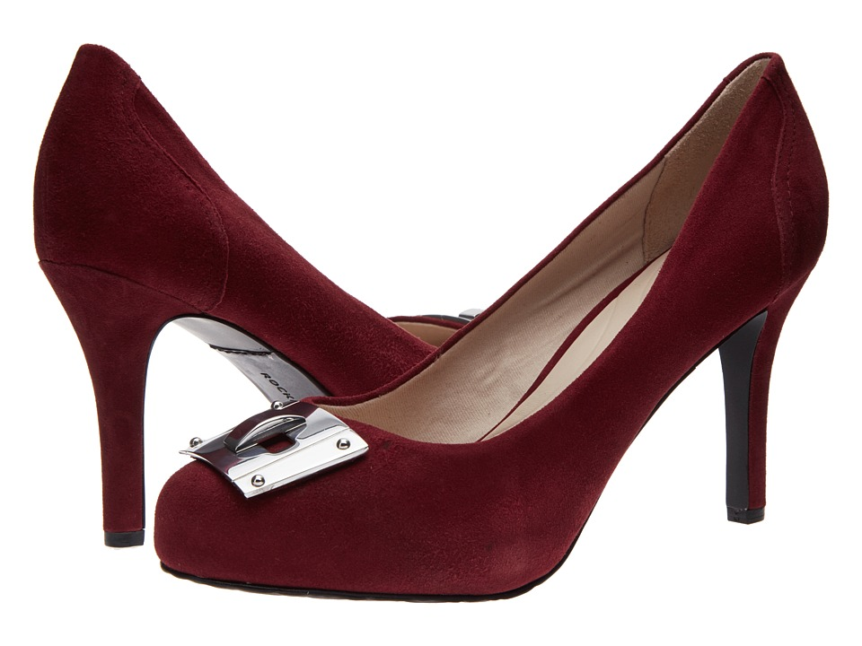 Rockport Seven To 7 95mm Key Lock Pump (Windsor Wine Suede) High Heels