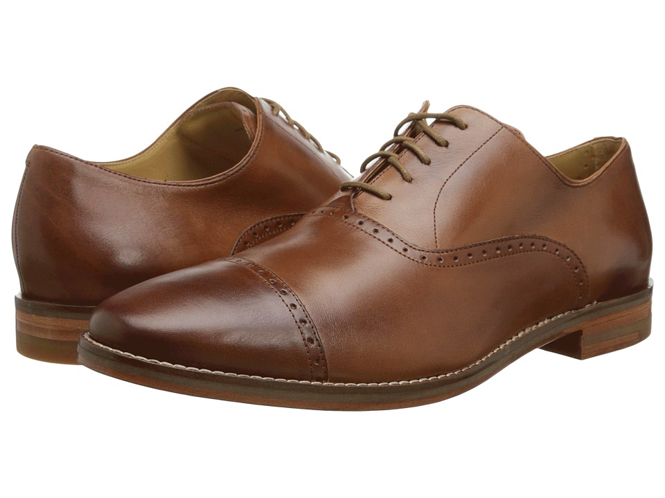Cole Haan Cambridge Cap Oxford British Tan Mens Lace Up Cap Toe Shoes