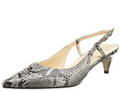 Cole Haan - Juliana Low Sling 45 (Natural Snake Print)