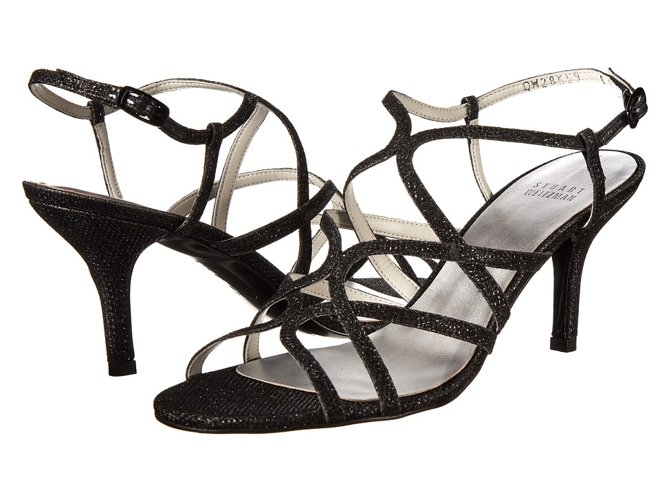 Stuart Weitzman Bridal amp Evening Collection Turningup Black Noir High Heels