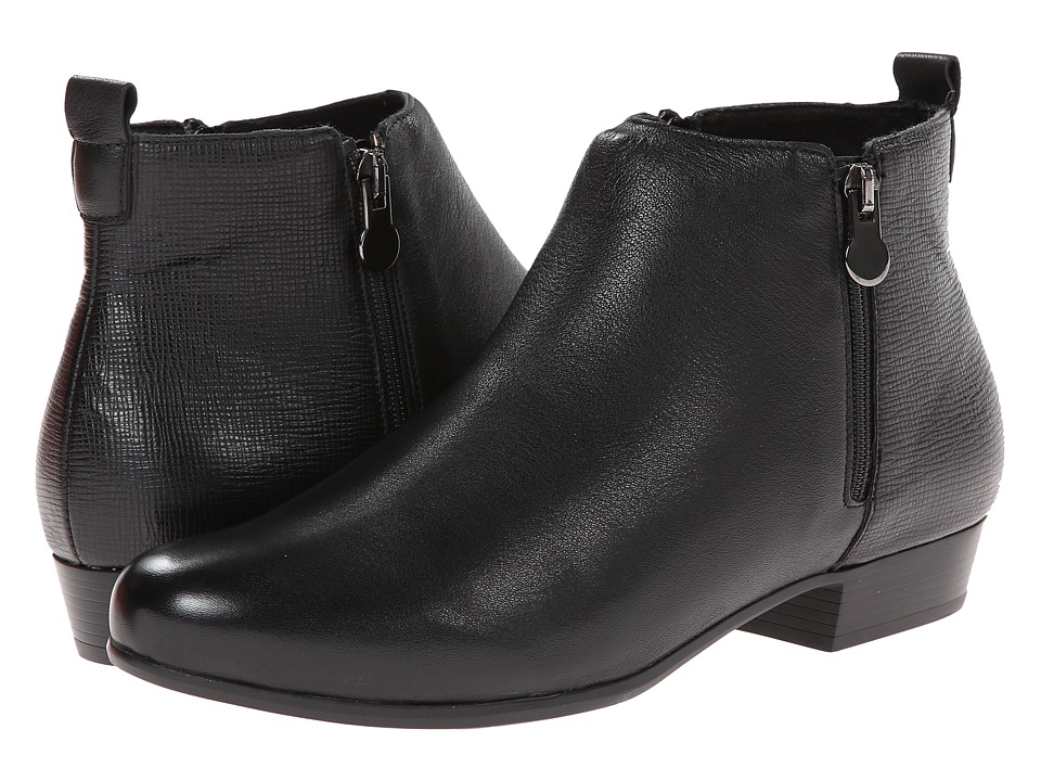 MUNRO Lexi (Black Kid/Print) Women's Zip Boots