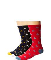 Macbeth - Micro Pennant Crew Socks 3-Pack