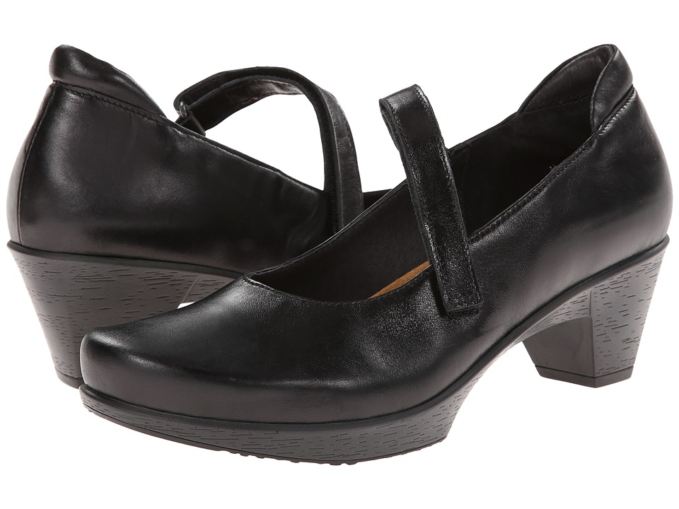 Naot - Muse (Black Madras Leather) Womens Flat Shoes