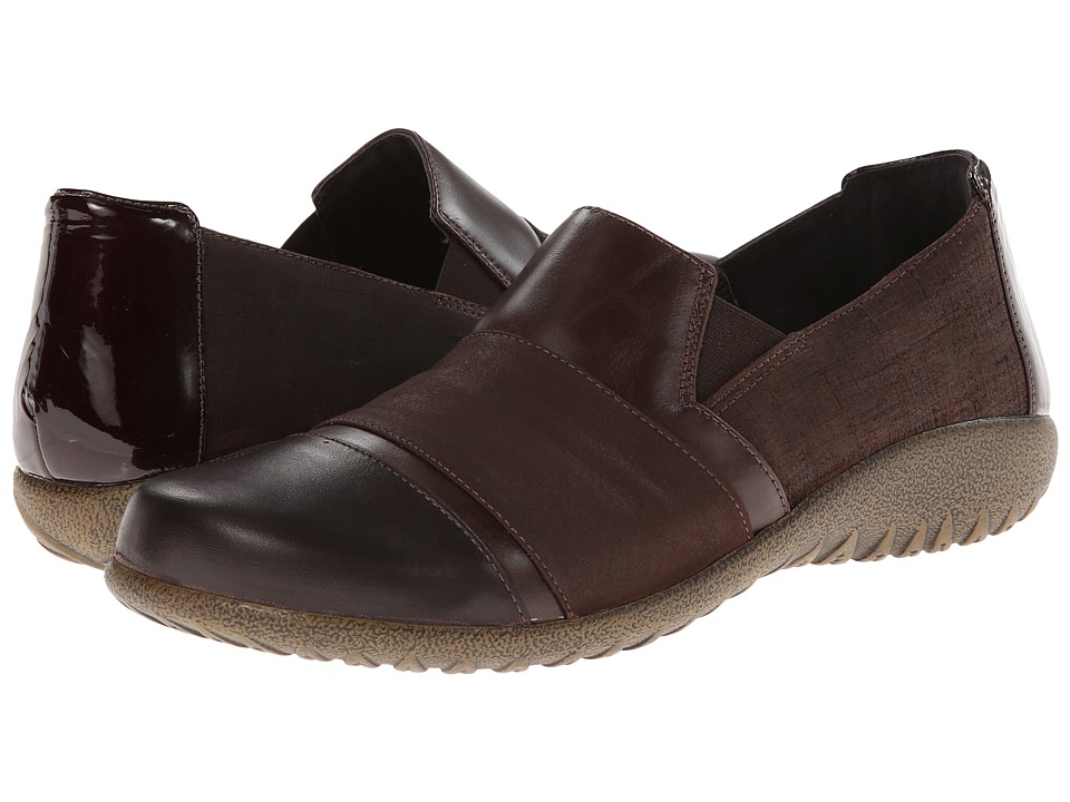 Naot Footwear Miro (Mine Brown Leather/Brown Shimmer Nubuck/Walnut Leather) Women