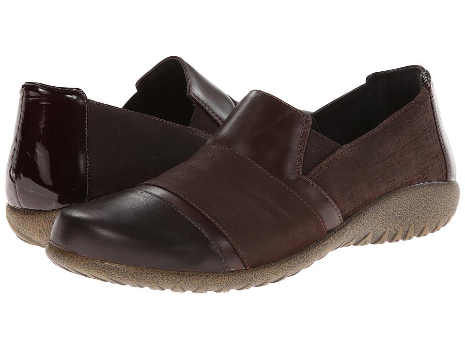 Naot Footwear - Miro (Mine Brown Leather/Brown Shimmer Nubuck/Walnut Leather) Women