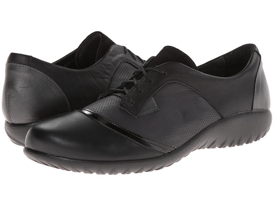 Naot Footwear - Harore (Onyx Leather/Jet Black Leather/Black Suede/Jet Black Leather) Women