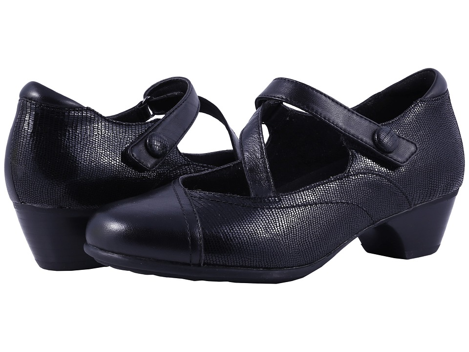 Aravon Portia (Black Multi) Maryjanes