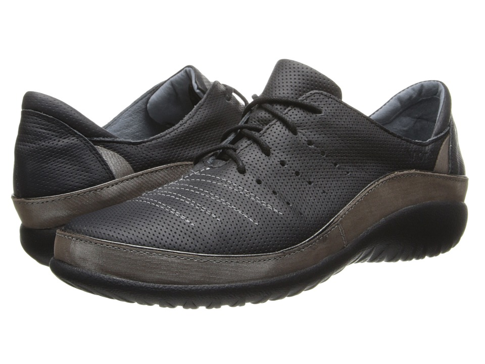Naot Footwear Kumara (Onyx Leather/Silver Threads Leather) Women's Shoes