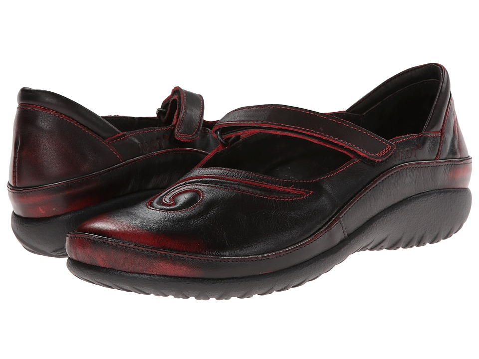 Naot Footwear Matai (Volcanic Red Leather) Maryjane Shoes