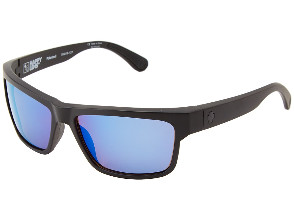 Spy Optic - Frazier (Matte Black/Happy Bronze Polar w/ Blue Spectra) Sport Sunglasses