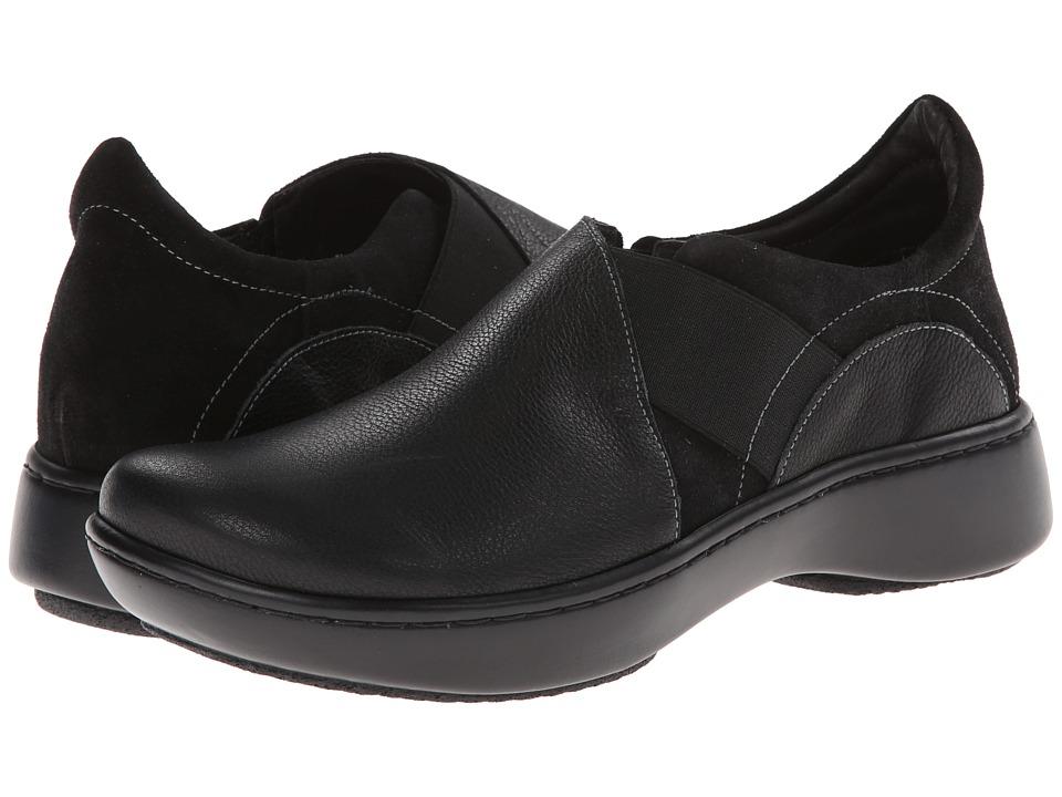 Naot Footwear Atlantic Caviar Leather/Black Suede Womens Shoes