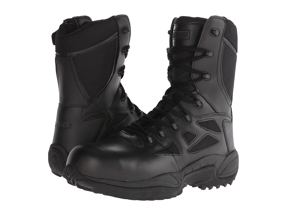 Reebok Work - Rapid Response RB 8 Soft Toe (Black) Mens Work Boots
