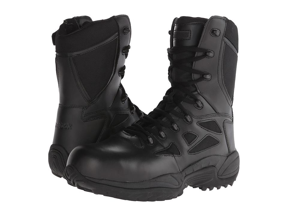 Reebok Work - Rapid Response RB 8 Soft Toe (Black) Mens Work Boots