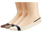 Sperry Top-Sider - Signature Invisible Liner 3-Pair Pack (Bone/Navy) - Footwear