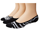 Sperry Top-Sider - Zebra 3 Pack (Black) - Footwear