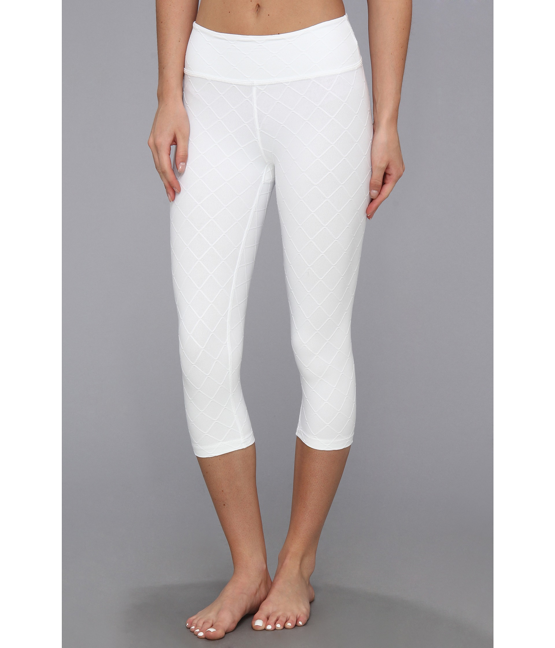 Beyond Yoga Quilted Essential Legging White