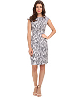 Calvin Klein - Cap Sleeve Printed Sheath Dress