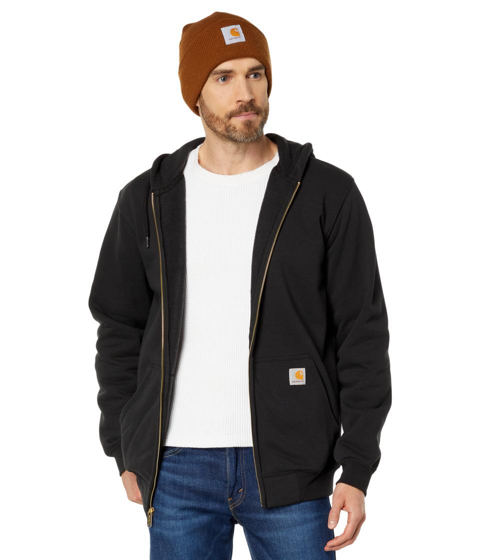 Carhartt MW Hooded Zip Front Sweatshirt (Black) Men's Swe...
