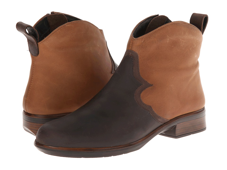 Naot Footwear Sirocco (Crazy Horse Leather/Saddle Brown Leather/Carob Brown Leather) Women