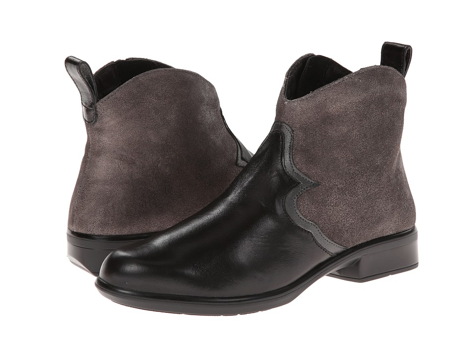 Naot Footwear Sirocco (Black Madras Leather/Gray Shimmer Leather/Metallic Road Leather) Women