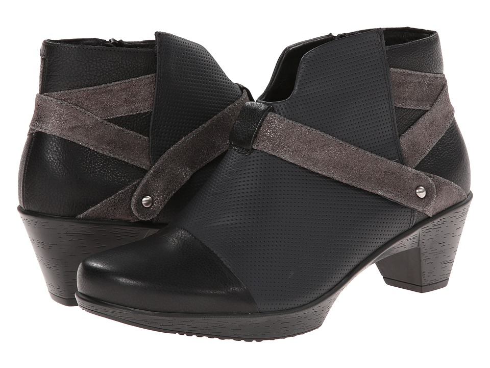 Naot Footwear - Modern (Onyx Leather/Caviar Leather/Gray Shimmer Leather) Women