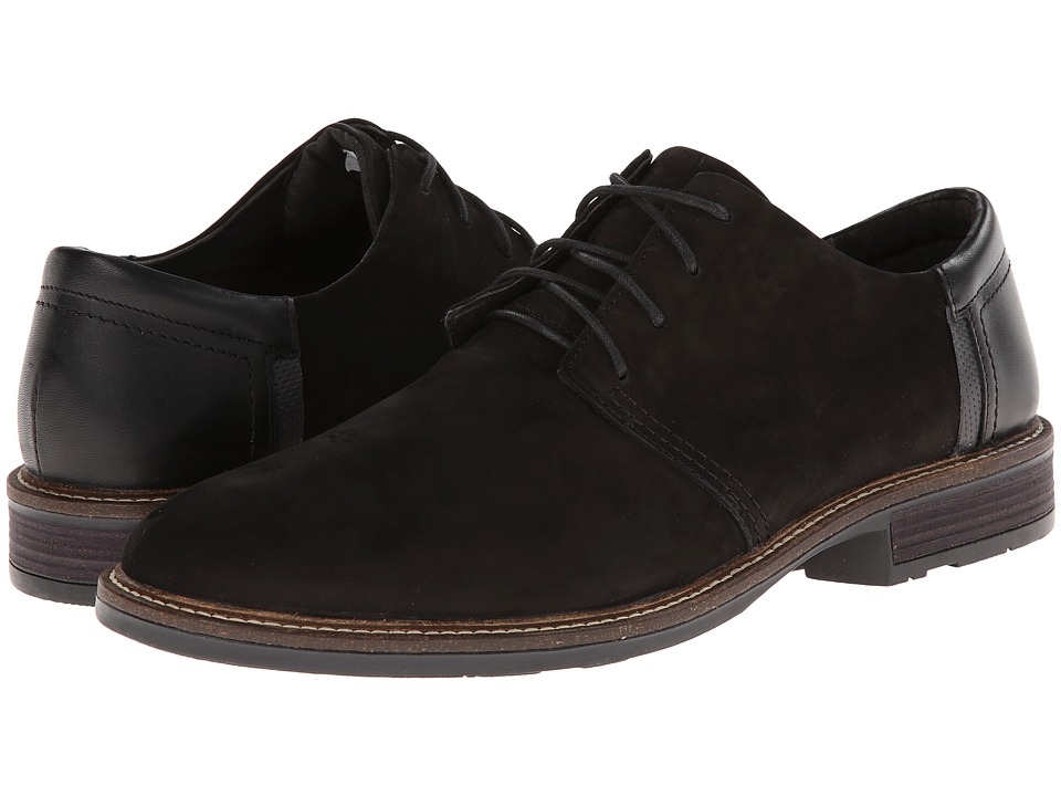 Naot Footwear - Chief (Black Velvet Nubuck/Black Raven Leather/Onyx Leather) Men