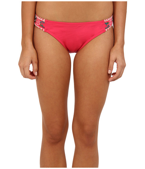 Lucky Brand - French Tapestry Tab Hipster (Coral) - Apparel