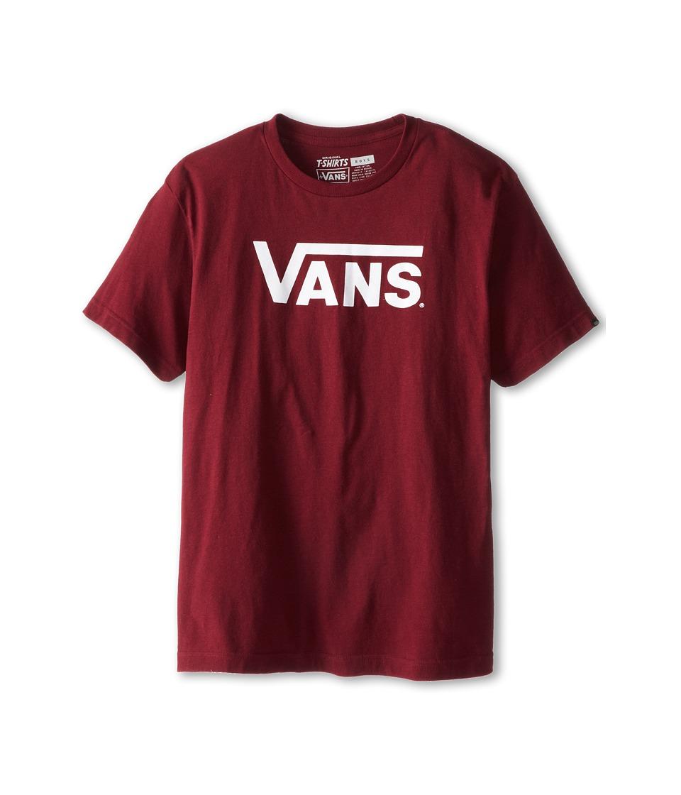 Vans Kids Vans Classic Tee (Big Kids) (Burgundy/White) Boy