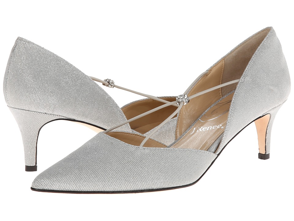J. Renee - Veeva (Silver Fabric) Women's Shoes