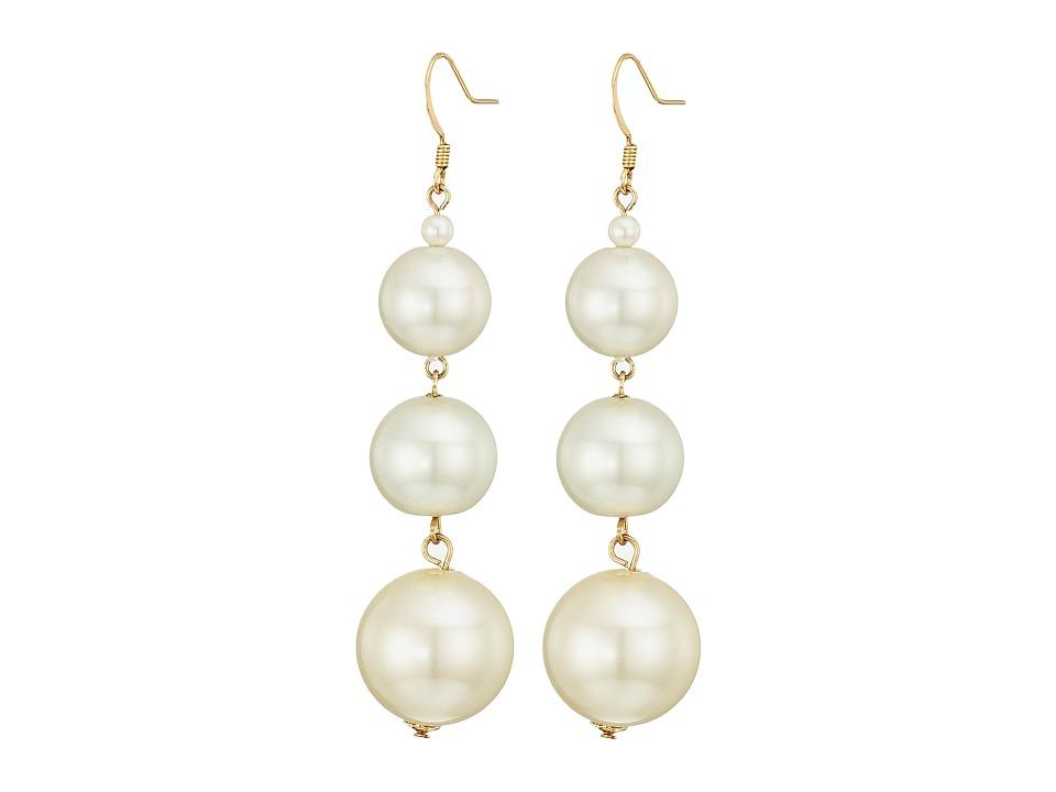Kenneth Jay Lane - 5079ELC Earrings (Gold/Pearl) Earring