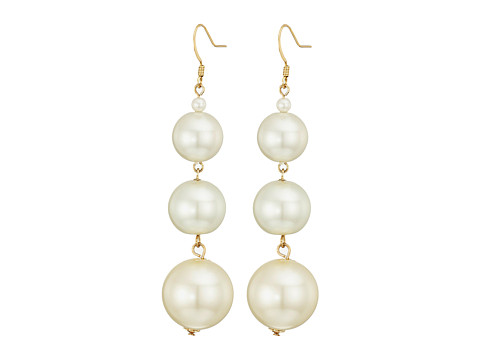 Kenneth Jay Lane 5079ELC Earrings - Gold/Pearl