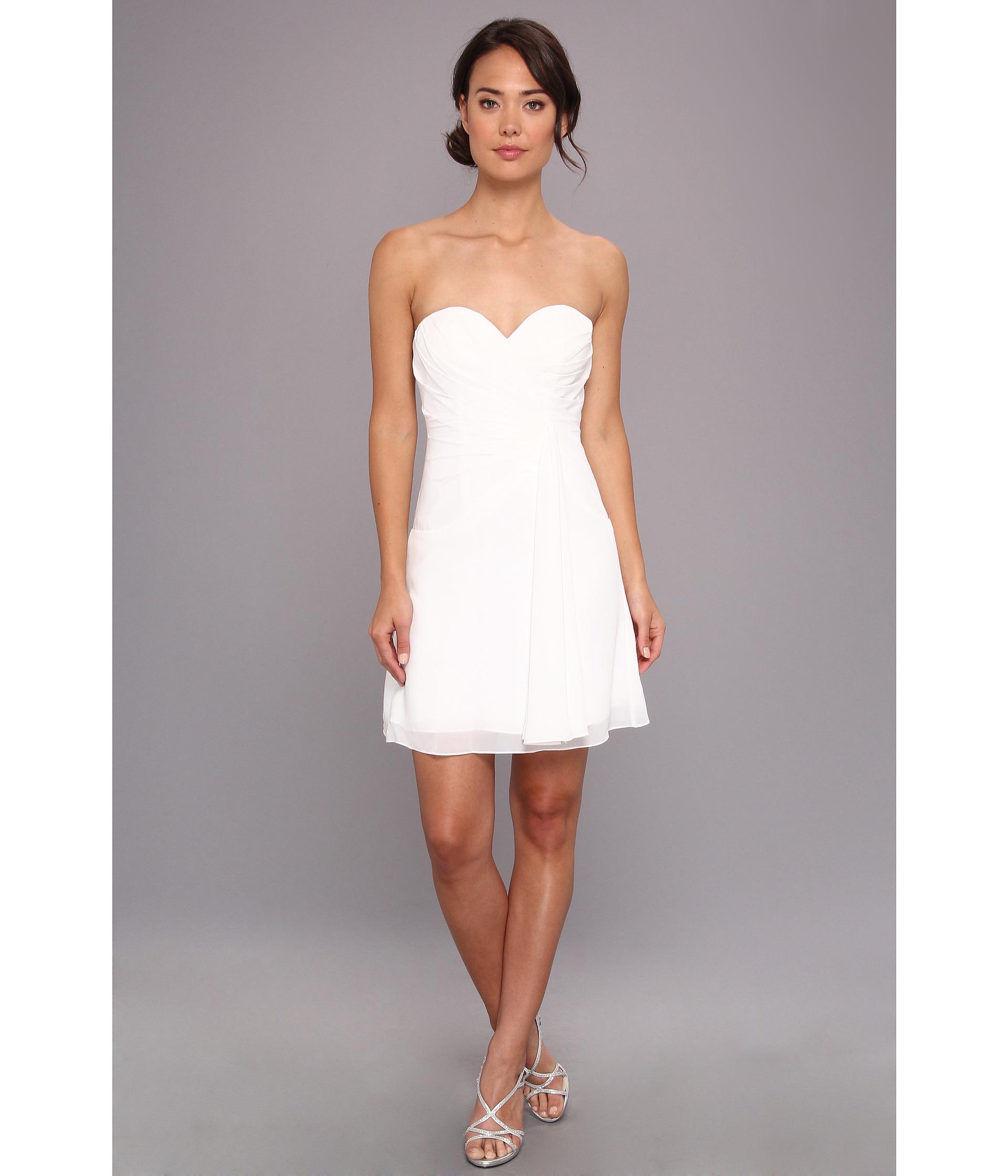 Faviana Short Strapless Sweetheart Dress 7075A - 6pm.com