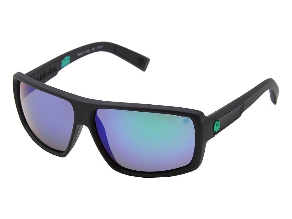Dragon Alliance Double Dos H20 Floatable Matte H2O Green Ion Polarized Sport Sunglasses