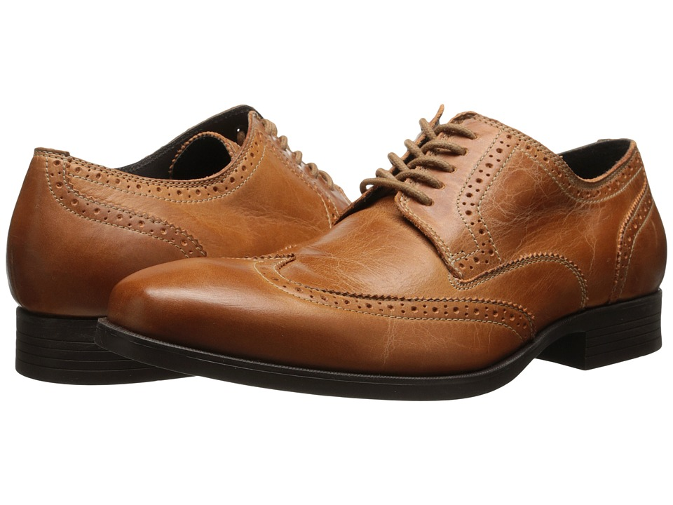Cole Haan - Copley Wingtip Derby British Tan 1 Mens Lace Up Wing Tip Shoes $148.00 AT vintagedancer.com