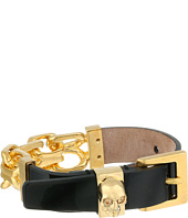 Alexander McQueen - Chain and Leather Skull Bracelet