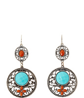 M&F Western - Filagree Turquoise Drop Earrings