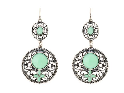M&F Western Filagree Turquoise Drop Earrings