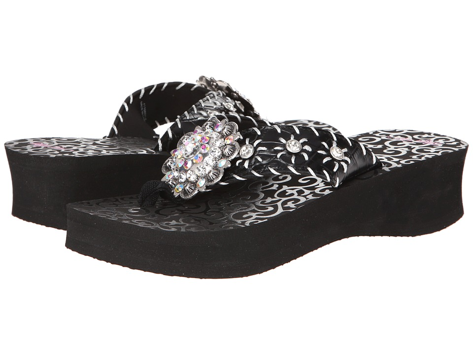 M + F Western - Megan (Black) Women's Sandals
