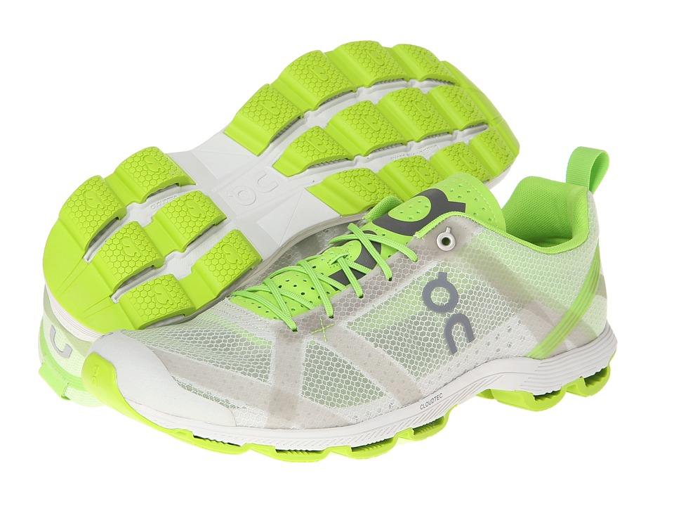On Cloudracer Silver/Lime Mens Running Shoes