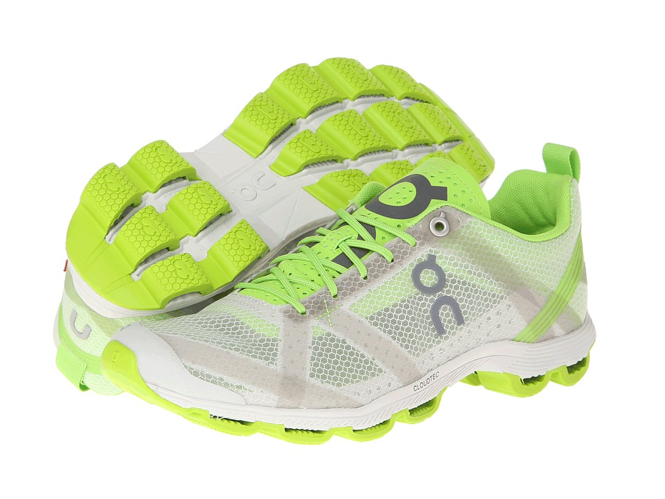 On Cloudracer Silver/Lime Womens Running Shoes