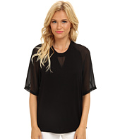 BCBGeneration - Knit Tee w/ Chiffon Sleeves