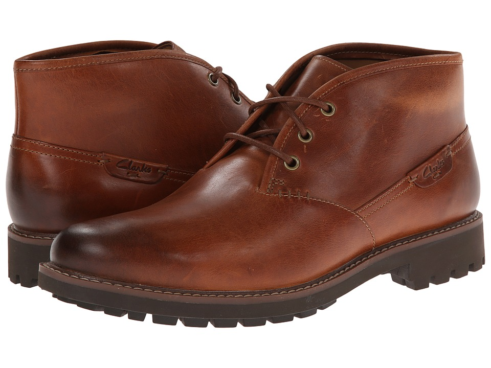Clarks Montacute Duke (Dark Tan Leather) Men