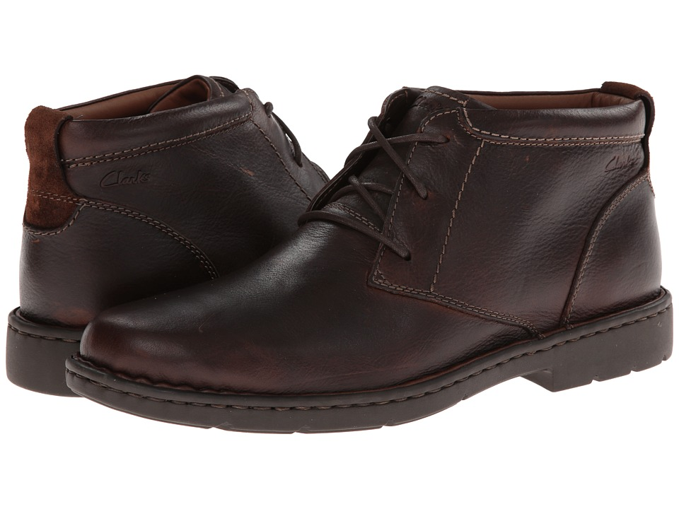 Clarks Stratton Limit (Brown Leather) Men