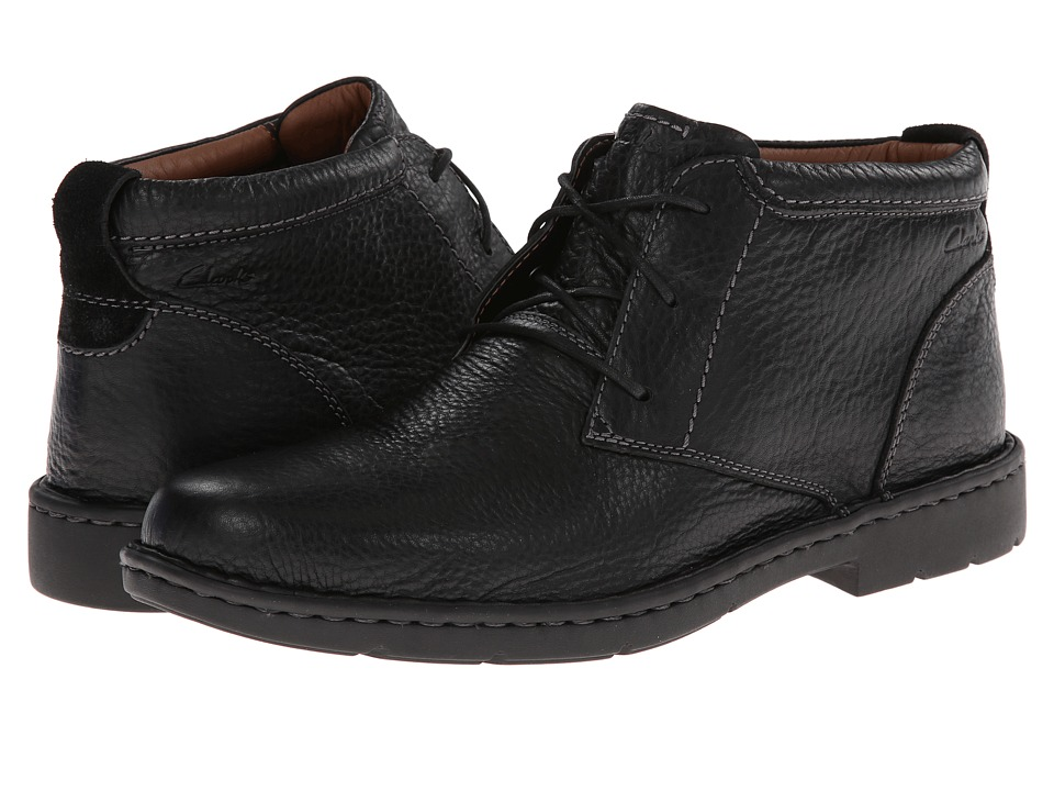 Clarks Stratton Limit (Black Leather) Men